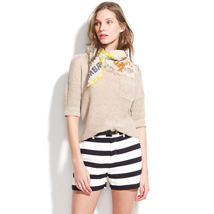 Picket-Stripe Clover Shorts