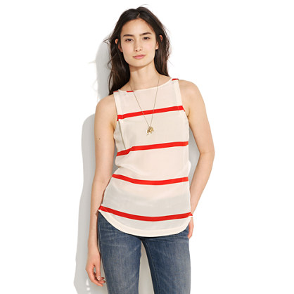 Silk Slipperstripe Tank
