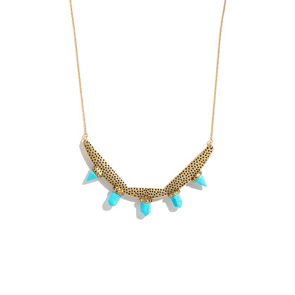 Stampdot Statement Necklace with Turquoise