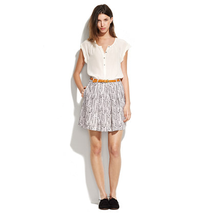 Cloudtrail Kickpleat Skirt