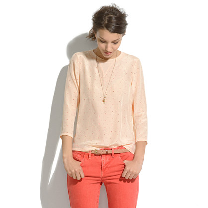 Silk-Front Tee in Colorpoint