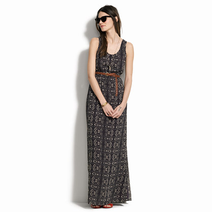 Laceprint maxidress : sale - Madewell