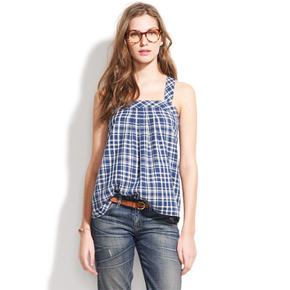 Plaid Bookmark Tank