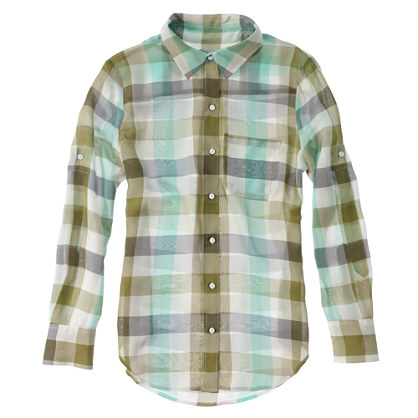 Silk Springcheck Shirt