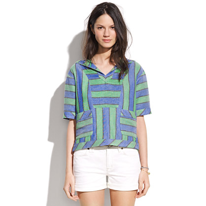 Sunwash Stripe Poncho