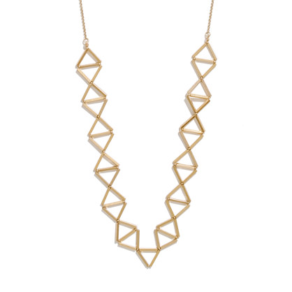 Golden Trapeze Necklace