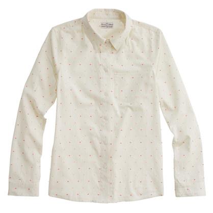 Shrunken Dropdot Shirt