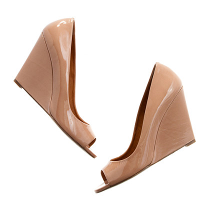 The Patent Postscript Peep-Toe Wedge