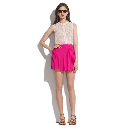 Pleated Flutter Skirt