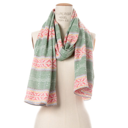 The Hill-side® Fair Isle Stripe Scarf