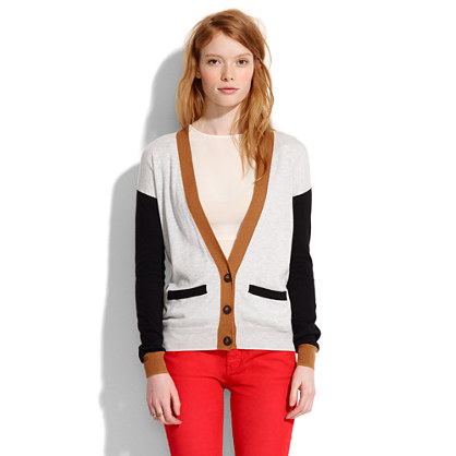 Colorblock Cornershop Cardigan