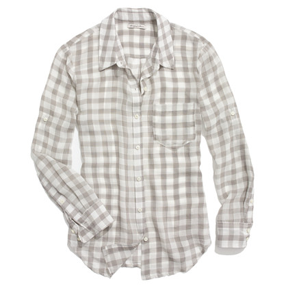 Silk Gingham Boyshirt