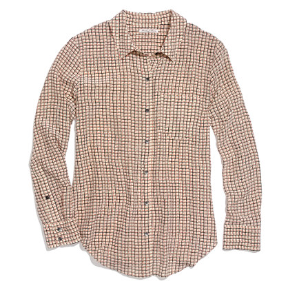Silk Boyshirt in Checkbox