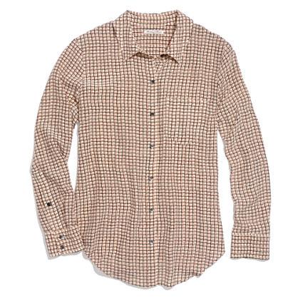 Silk Boyshirt in Checkbox