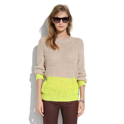 Colorblock Bookmark Sweater