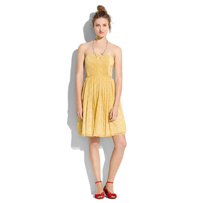 Silk Sunshadow Strapless Dress