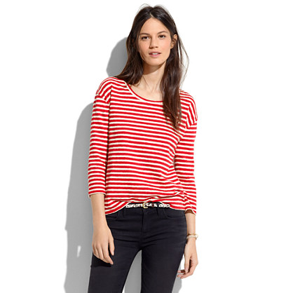 Pencil-Stripe Pullover