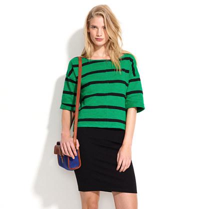 Striped Sweatshirt Tee