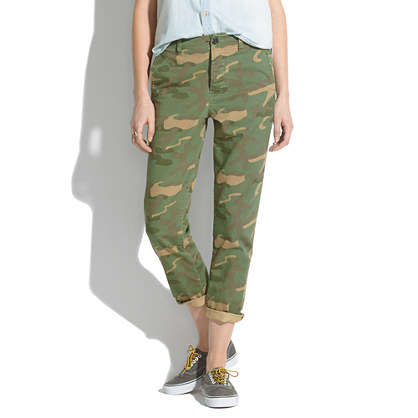 Cropped Rivington Trousers in Camo