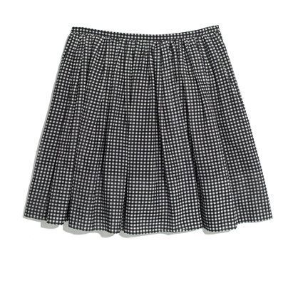 Gingham Shirred Skirt