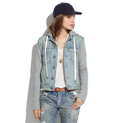 NSF® Kur Denim Sweatshirt-Jacket : denim jackets | Madewell