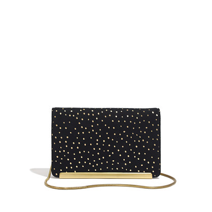 The Friday Clutch in Foil Dot