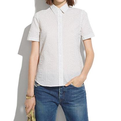 Short-Sleeve Shirt in Crinkledot