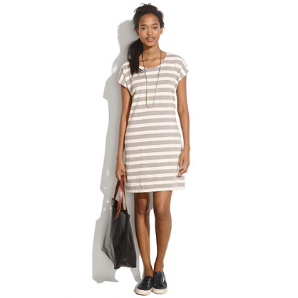 Zipline Minidress in Smokestripe