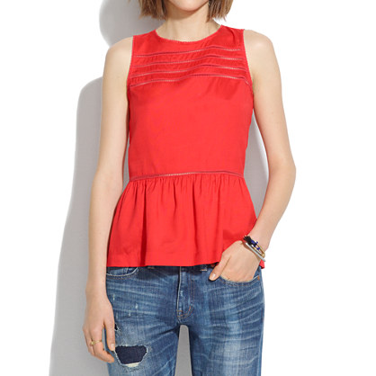 Silk Peplum Veranda Top