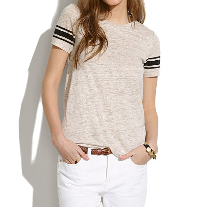 Linen Half-Court Tee in Stripe