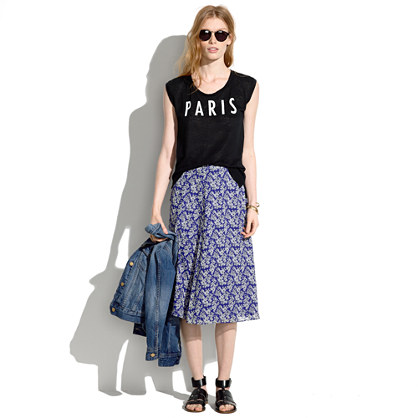 Silk Daisy Tumble Skirt