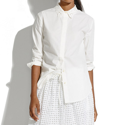 Eyelet Collar Blouse