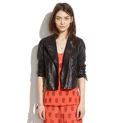 Leather Button-Up Motorcycle Jacket