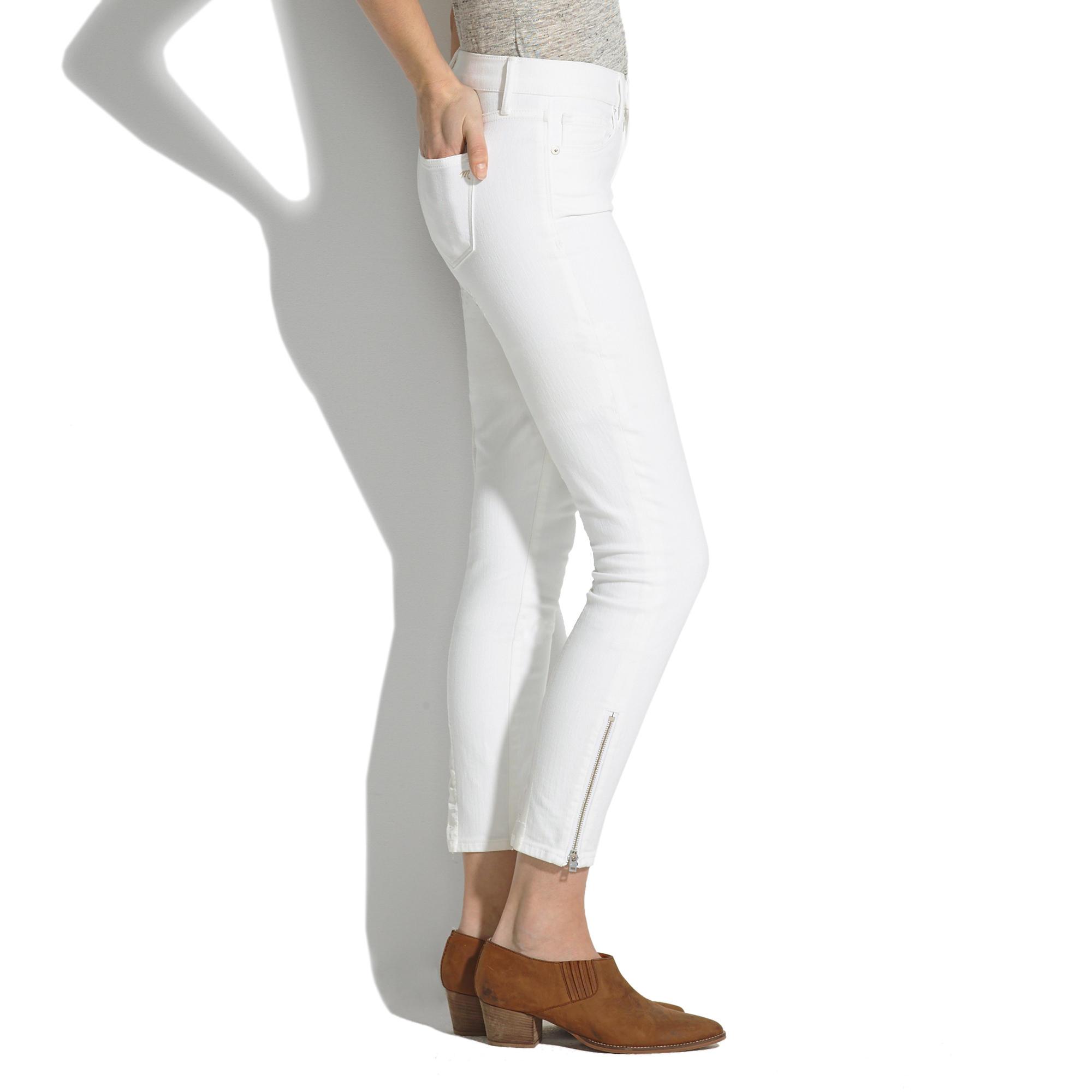 Skinny Skinny Crop Zip Jeans in Pure White : skinny skinny crop ...