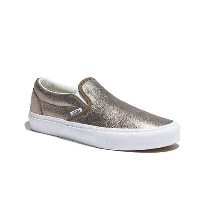 Vans® Metallic Slip-Ons