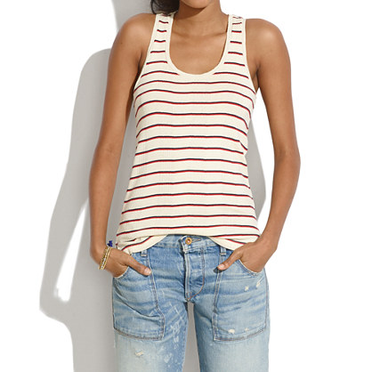 Ribbed Tank in League Stripe