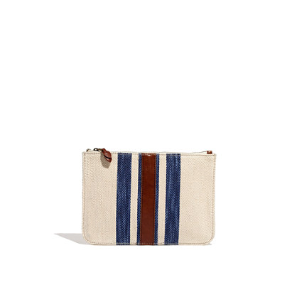 The Simple Pouch in Surf Stripe