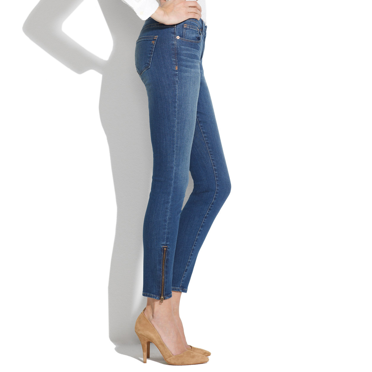 Skinny Skinny Zip Jeans in Sky Wash : skinny jeans | Madewell
