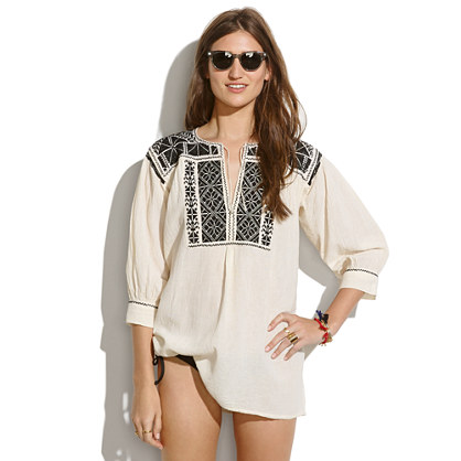 JM Drygoods™ Black-Embroidered San Vicente Blouse