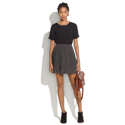 Mini-Houndstooth Skirt