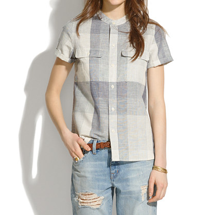 Short-Sleeve Shirt in Screendoor Plaid