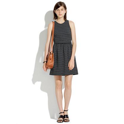 Pierside Zip-Back Dress in Stripe