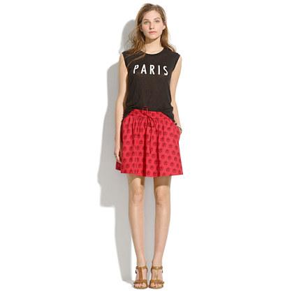 Turntable Skirt in Redleaf Paisley