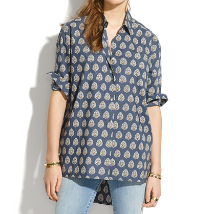Oversized Tunic in Palmleaf Paisley