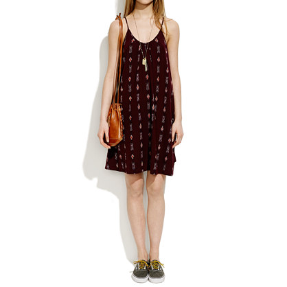 Backyard Sundress in Burgundy Ikat