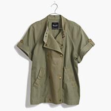 Sahara Short-Sleeve Jacket - OLIVE TREE