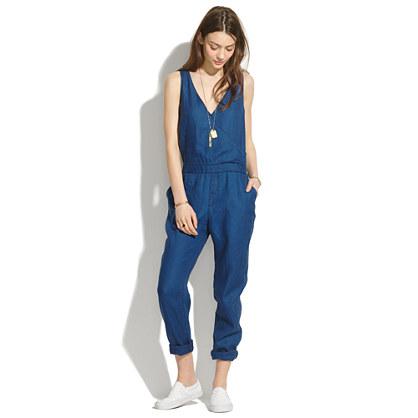 Indigo Linen Jumpsuit