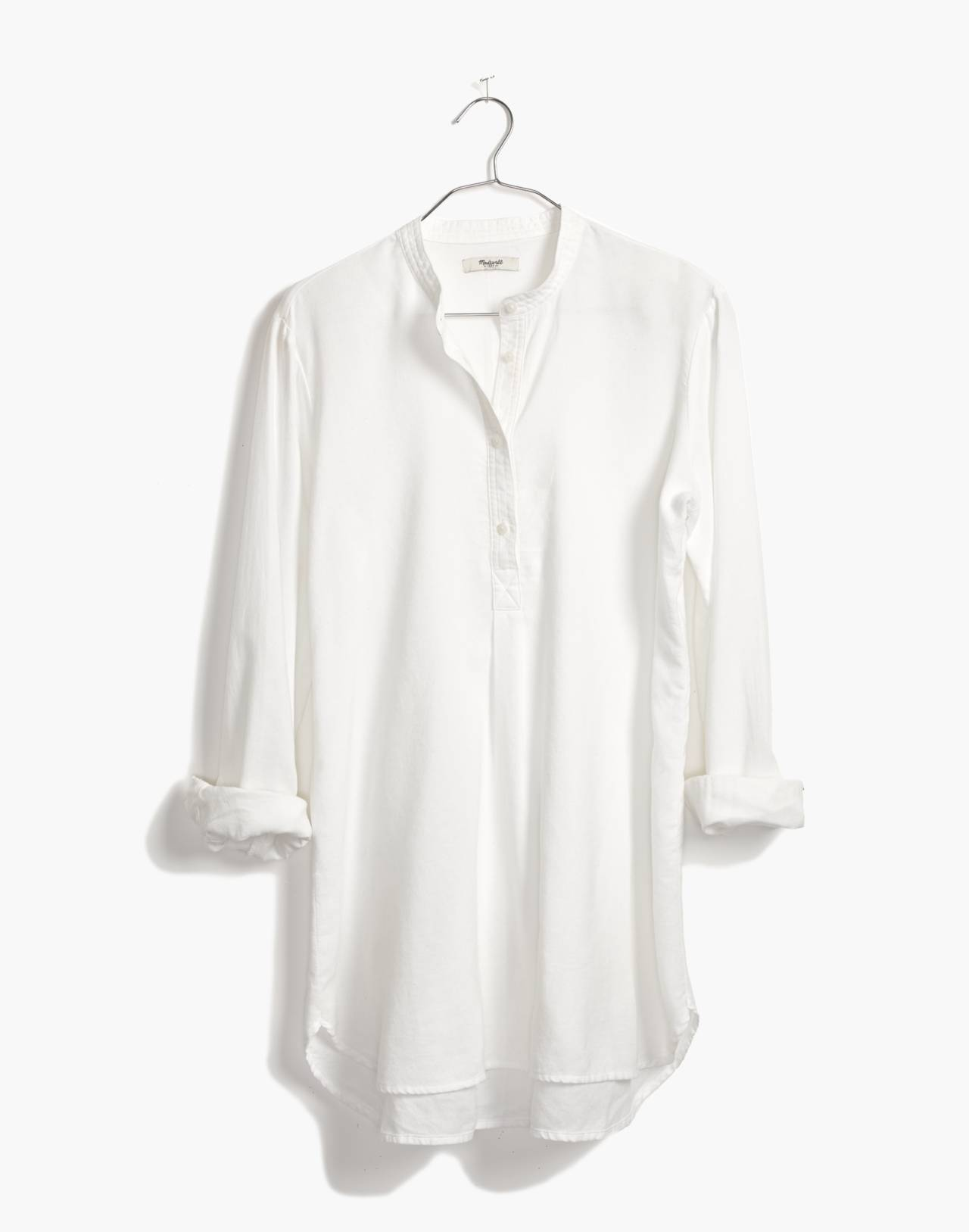 Wellspring Tunic Popover Shirt in eyelet white image 4