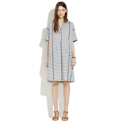 Poncho Dress in Stripe