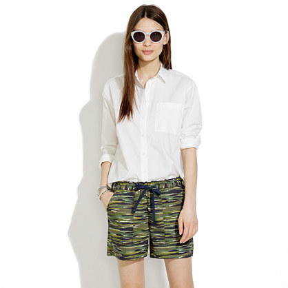 Drawstring Shorts in Camo Wave
